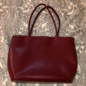 Red leather long champ